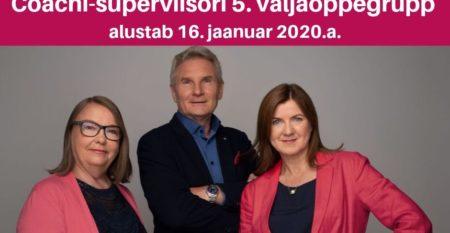 Coachi- superviisori 5. väljaõppegrupp alustab 16. jaanuar 2020.a.